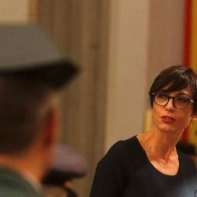 Rafael Pérez secretario de Estado de Seguridad y María Gámez directora general de la Guardia Civil